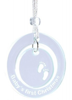 Baby's 1st Christmas unisex Bauble Keepsake first Tree Decoration Spaceform