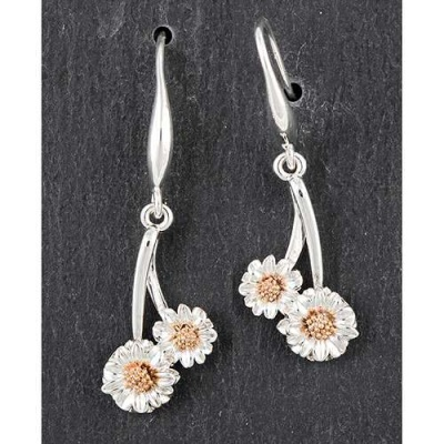 equilibrium Botanical Collection Gerbera Flower Earrings