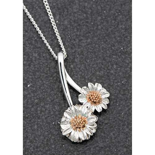 equilibrium Botanical Collection Gerbera Flower Necklace