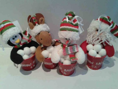 Christmas Tree Decoration: Snowman, Santa, Reindeer, Penguin