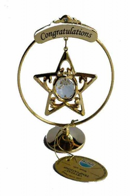 Congratulations A Star Suncatcher Cake Topper Keepsake
