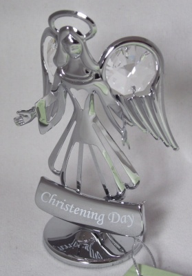 Crystocraft Christening Day Guardian Angel Suncatcher Cake Topper Keepsake