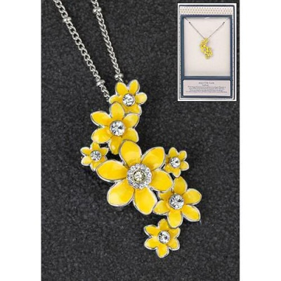 equilibrium Spring Flower Necklace Daffodil Cascade