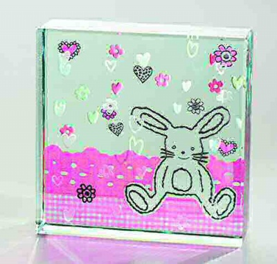 Bunny Rabbit Paperweight Keepsake Ornament by Spaceform Newborn Baby Gift