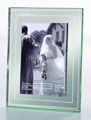 Wedding Photograph Frame for My Son's Wedding by Spaceform