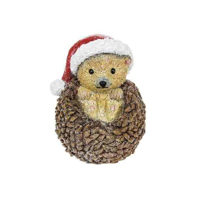 Woodland Christmas Decoration Ornament Hedgehog Santa Hat