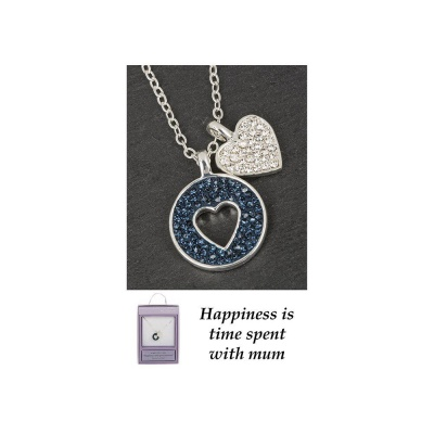 equilibrium Happiness is time spent with mum Necklace