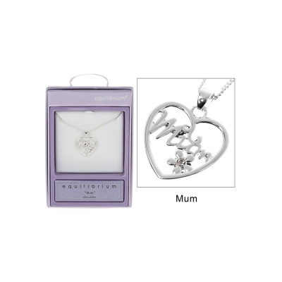 equilibrium Mum Daisy in Heart Necklace