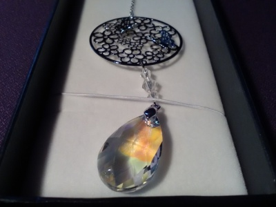 equilibrium Suncatcher Flowers with Clear Teardrop Crystal