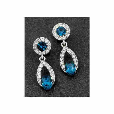 equilibrium Vintage Collection Blue Teardrop Earrings
