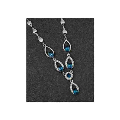 equilibrium Vintage Collection Blue Teardrop Necklace