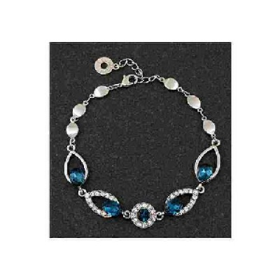 equilibrium Vintage Collection Blue Teardrop Bracelet