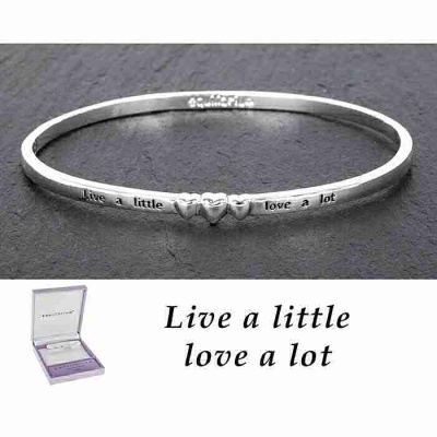 equilibrium Bangle 3 Hearts ''Live a Little Love a Lot