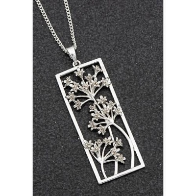 equilibrium Botanical Collection Agapanthus Flower Necklace