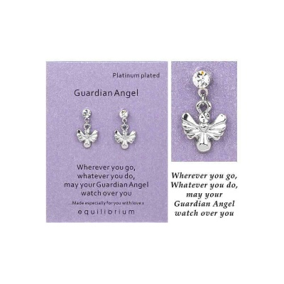 equilibrium Drop Earrings for pierced ears Guardian Angel