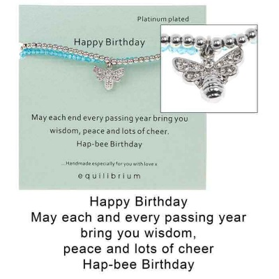 equilibrium Friendship Bracelet Happy Birthday