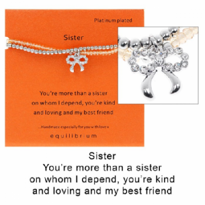 equilibrium Friendship Bracelet ''More than a Sister''