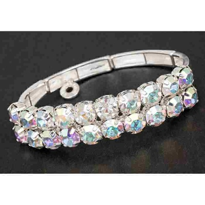 equilibrium Glamour Collection Bracelet Clear Sparkle