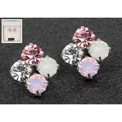 equilibrium Glamour Collection Earrings Pink Sparkle