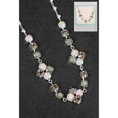 equilibrium Glamour Collection Necklace Dark & Clear Sparkle