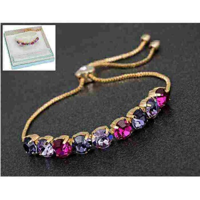 equilibrium Glamour Collection Friendship Bracelet Purple Pink Sparkle
