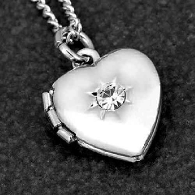 Silver Plated Heart Locket Necklace by equilibrium