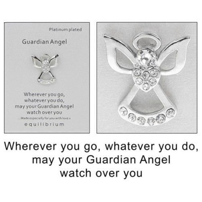equilibrium Lapel Pin Brooch Guardian Angel to watch over you wherever you go