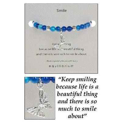 equilibrium Bangle Bracelet Natural Quartz  ''Keep Smiling''