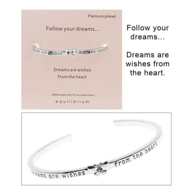 equilibrium Open Bangle Follow your Dreams