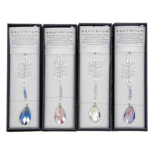 equilibrium Suncatcher Cascade Crystal Teardrop Blue Clear Pink Purple