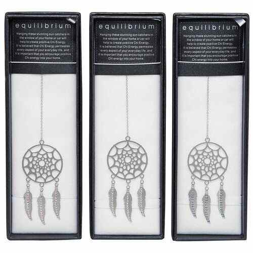 equilibrium Suncatcher  Dreamcatcher Blue Clear Pink