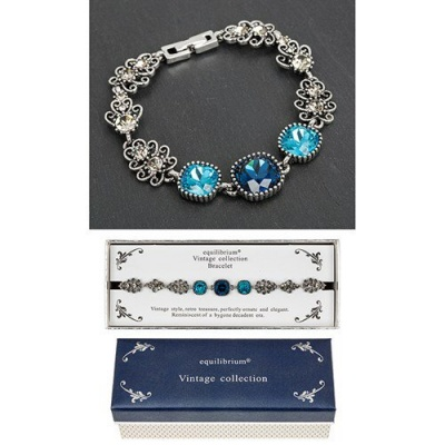 equilibrium Vintage Collection Sapphire Blue Square Bracelet