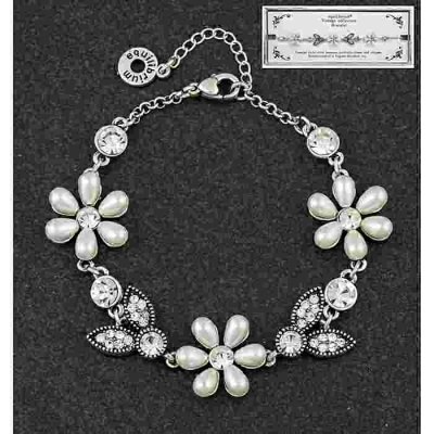 equilibrium Vintage Collection Pearl Flower Bracelet