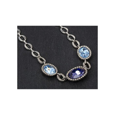 equilibrium Vintage Collection Blue Ovals Necklace