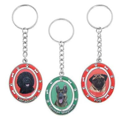 Spinning Dog Keyring Bag Ornament Phone Charm