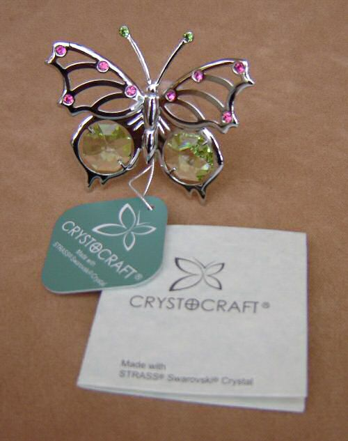 Crystocraft Swallowtail Butterfly Suncatcher Cake Topper Keepsake