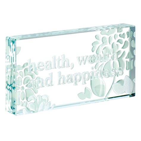 Spaceform Health Wealth Happiness Wedding Keepsake to Treasure