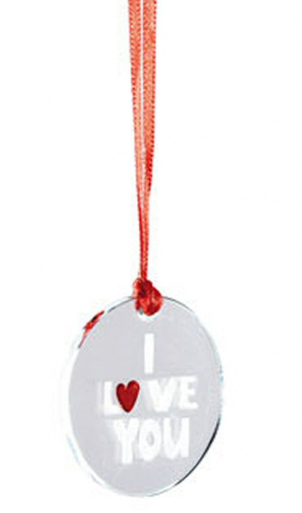 Red Heart I Love You Mini Hanging Keepsake Token by Spaceform
