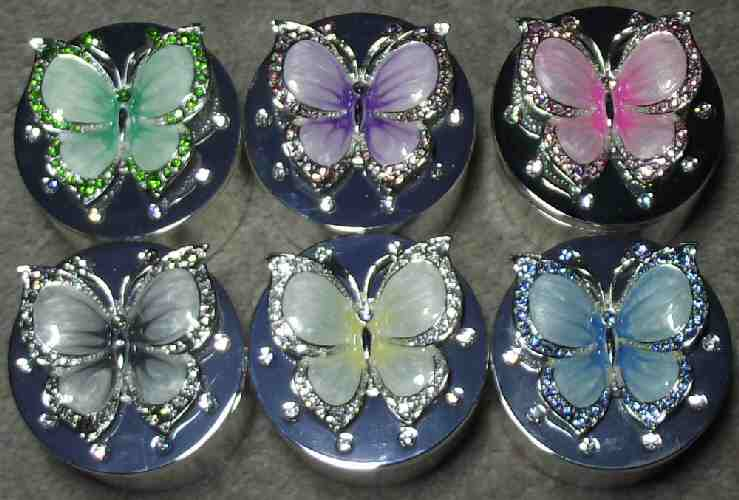Jewellery Trinket Box Butterfly Assorted Colours available