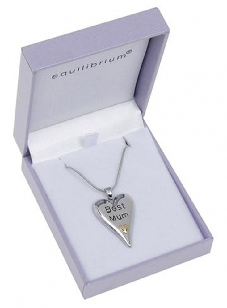 equilibrium Best Mum Heart Necklace