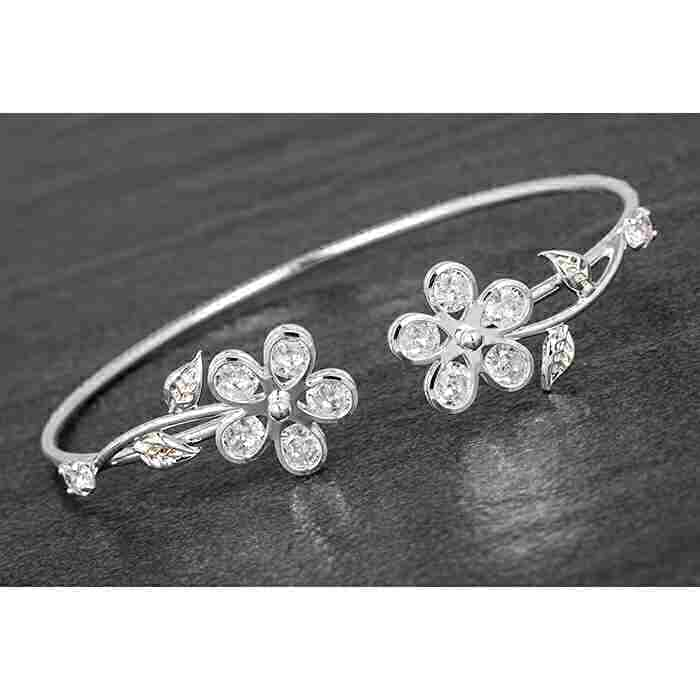 equilibrium Sparkle daisy flower bangle 284555