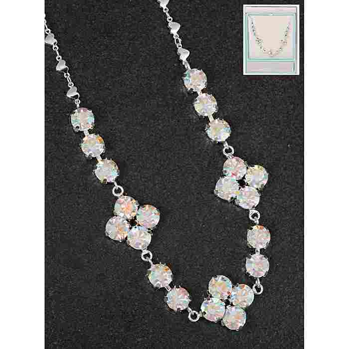 equilibrium Glamour Collection Necklace Clear Sparkle