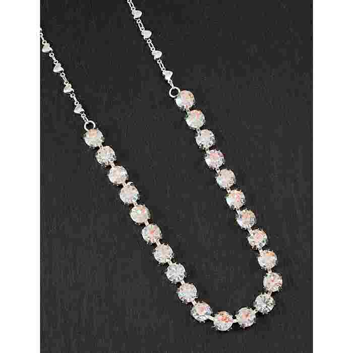 equilibrium Glamour Collection Necklace Single Row Clear Sparkle