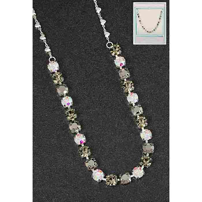 equilibrium Glamour Collection Necklace Single Row Dark Sparkle