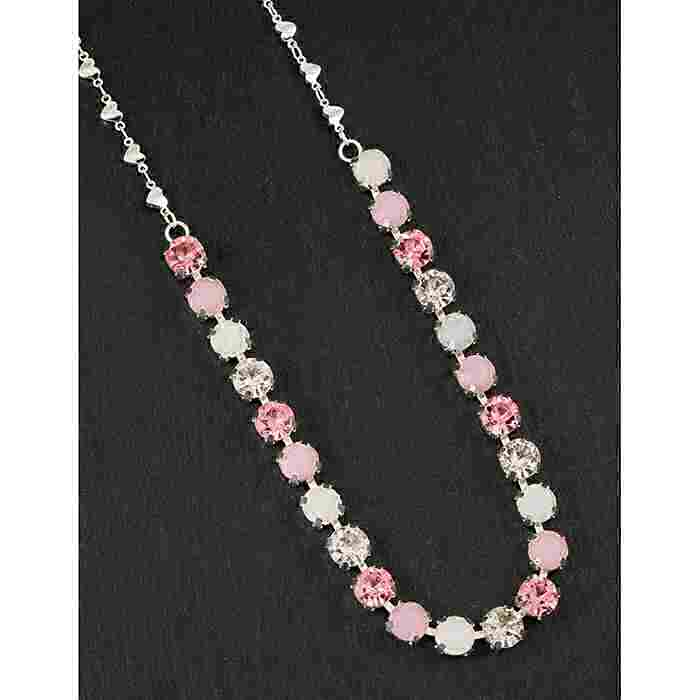 equilibrium Glamour Collection Necklace Single Row Mint Sparkle