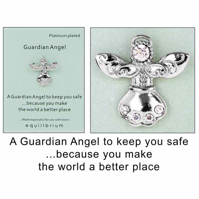 equilibrium Lapel Pin Brooch Angel to keep you safe