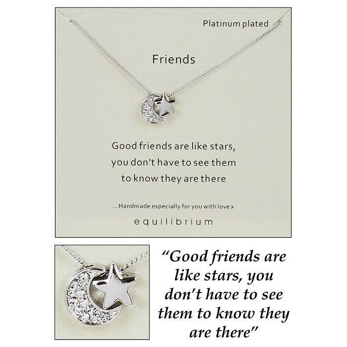 Equilibrium Necklace Good Friends are like Stars