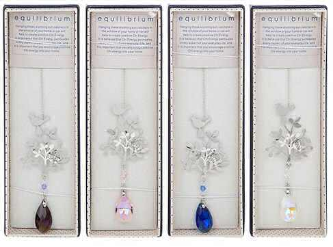 equilibrium Suncatcher 3D Tree Bird Butterfly Teardrop Crystal
