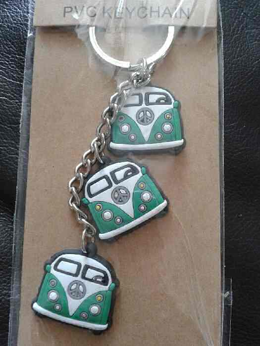 Campervan Green Keyring Bag Ornament Phone Charm