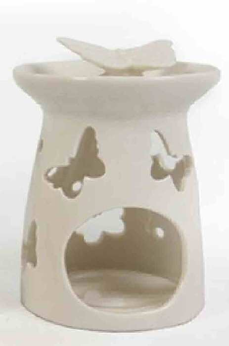 Ceramic Oil Burner Butterfly with cut-out butterflies